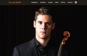 Web Design: Callum Smart Violinist