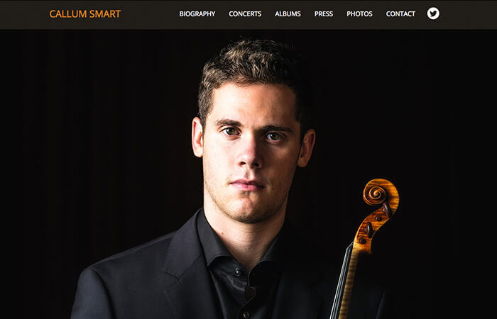 Web Design: Callum Smart Violinist