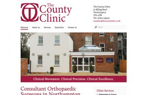 Web Design: The County Clinic Northampton