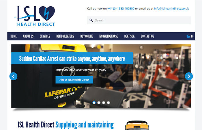 Web Design: ISL Health Direct