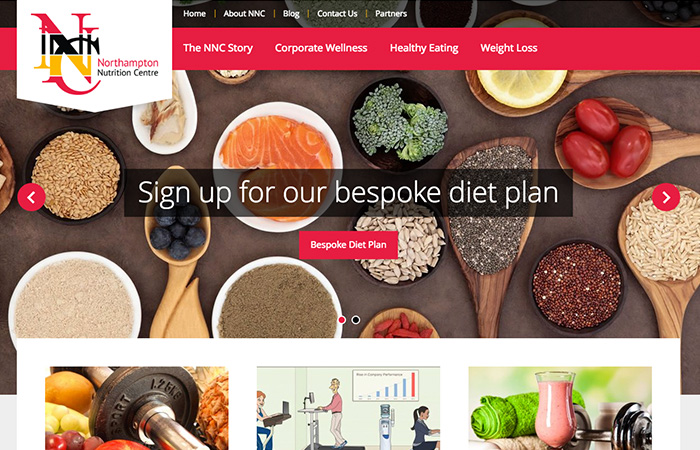 Web Design: Northampton Nutrition Centre