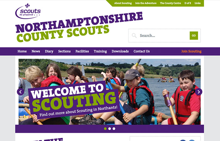 Web Design: Northamptonshire County Scouts
