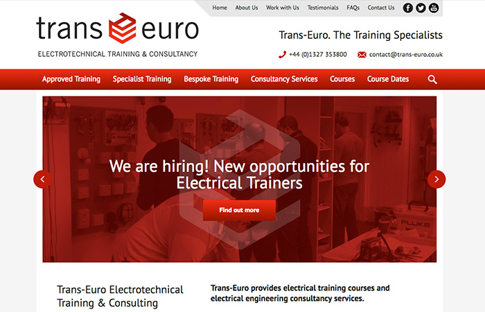Web Design: Trans-Euro Engineering Services